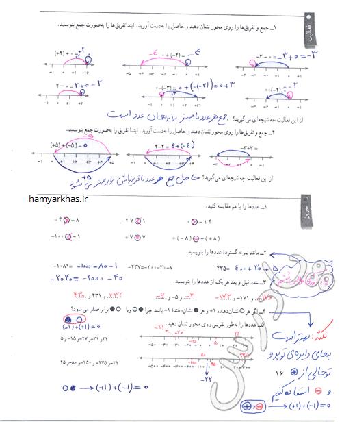 تمرین صفحه 11-12 ریاضی هفتم.png